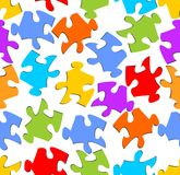 Seamless puzzle background in rainbow colors Royalty Free Stock Images