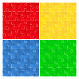 Seamless puzzle backgrounds Royalty Free Stock Image