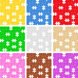 Seamless puzzle backgrounds Royalty Free Stock Images