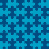 Seamless Puzzle - Blue. Blue puzzle background - completely seamless (You can tile this over any size and the pattern continues infinitely) EPS file also Stock Image