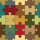 Seamless puzzle - easy change color Stock Photo