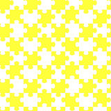 Seamless puzzle pieces yellow jigsaw pattern Royalty Free Stock Photography