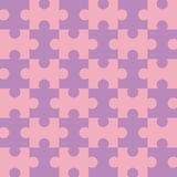 Seamless Puzzle - Pink. Pink and purple puzzle background - completely seamless (You can tile this over any size and the pattern continues infinitely) EPS file Royalty Free Stock Photos