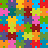 Seamless puzzle texture Stock Photo