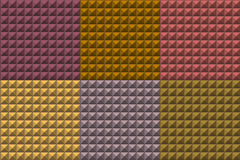 Seamless pyramid tiles pattern in multiple colors Stock Image