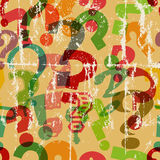 Seamless question mark background Stock Image