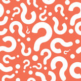 Seamless Question Mark Background Royalty Free Stock Photography