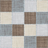 Seamless quilt checkered medley composition Royalty Free Stock Photography