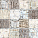 Seamless quilted pattern with grunge striped and checkered square elements Stock Image