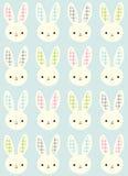 Seamless rabbit cartoon pattern Stock Images