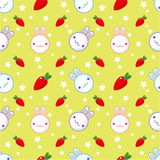 Seamless rabbit pattern Royalty Free Stock Photos