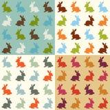Seamless rabbit pattern. Seamless cute cartoon rabbit pattern Stock Illustration