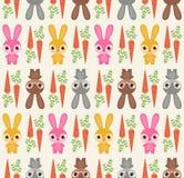 Seamless rabbit pattern. Seamless cute cartoon rabbit pattern Royalty Free Illustration