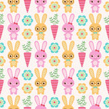 Seamless rabbit pattern Stock Image
