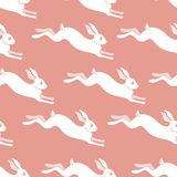 Seamless rabbit pattern to Easter holiday.Vector illustration.  Stock Image