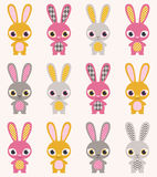 Seamless rabbits cartoon background Royalty Free Stock Images