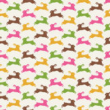 Seamless rabbits fabric pattern Royalty Free Stock Photography