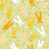 Seamless rabbits Stock Photo