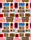 Seamless radio pattern Stock Images