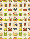 Seamless radio pattern Royalty Free Stock Photos