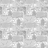 Seamless radio pattern Royalty Free Stock Image