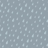 Seamless Rain Drops on Gray Stock Photography