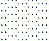 Seamless rain drops pattern on blue background vector illustration
