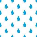 Seamless rain drops pattern on white Stock Photography