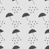 Seamless rain pattern Royalty Free Stock Photo