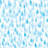 Seamless rain pattern Stock Images