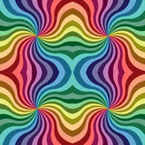 Seamless Rainbow Colored Curls Pattern. Colorful Geometric Abstract Background. Vector Illustration. Seamless Rainbow Colored Curls Pattern. Colorful Geometric Stock Image