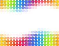 Seamless rainbow colored polka dot background Stock Photo