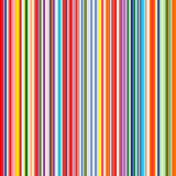 Seamless rainbow curved stripes color line art vector background Royalty Free Stock Photos