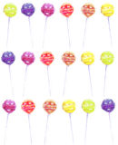 Seamless rainbow lollipop pattern Royalty Free Stock Photography