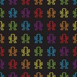 Seamless rainbow monkey pattern. Vector Royalty Free Stock Image