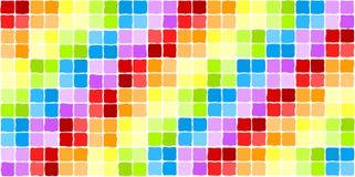 Seamless rainbow mosaic tiles. Rainbow colored irregular squares. Seamless Tile Stock Image