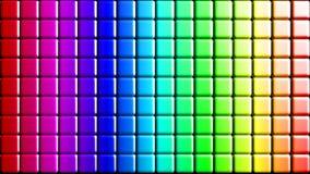 Seamless rainbow mosaic tiles Stock Images