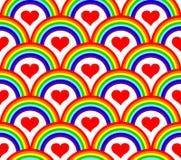 seamless rainbow pattern Stock Photos