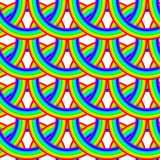 Seamless Rainbow Pattern Royalty Free Stock Photos