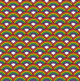 Seamless Rainbow Pattern Stock Image