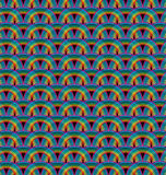 Seamless rainbow pattern tile Stock Photo