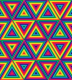 Seamless Rainbow Polygonal Pattern. Geometrical Triangle Abstract Pattern. Suitable for textile, fabric and packaging Stock Photos