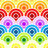 Seamless rainbow scaled circles. Multi-colored rainbow circles in scales Stock Images