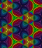Seamless Rainbow Spirals. Geometric Pattern. Suitable for textile, fabric and packaging Royalty Free Stock Photography