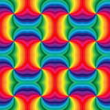 Seamless Rainbow Spirals Pattern. Geometric Abstract Background. Suitable for textile, fabric and packaging royalty free illustration