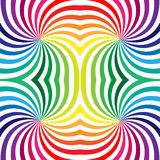 Seamless Rainbow Spirals on White. Geometric Pattern. Suitable for textile, fabric and packaging Stock Photos