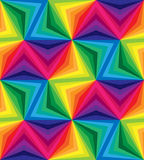 Seamless Rainbow Stripes. Geometric Pattern. Suitable for textile, fabric and packaging Stock Photography