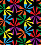 Seamless Rainbow Stripes. Geometric Pattern. Suitable for textile, fabric and packaging Stock Images