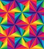 Seamless Rainbow Stripes. Polygonal  Pattern.  Stock Photo