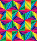 Seamless Rainbow Stripes. Polygonal  Pattern.  Royalty Free Stock Image